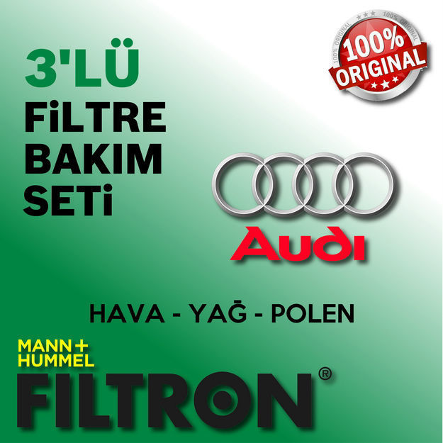 Audi A4 2.0 Tdi Filtron Filtre Bakım Seti B7 2005-2008 resmi