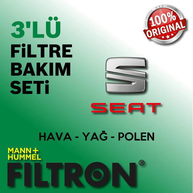 Seat İbiza 1.4 Filtron Filtre Bakım Seti 2009-2014 Cgg resmi