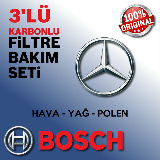 Mercedes C180 Komp. Bosch Filtre Bakım Seti W204 2008-2011 resmi