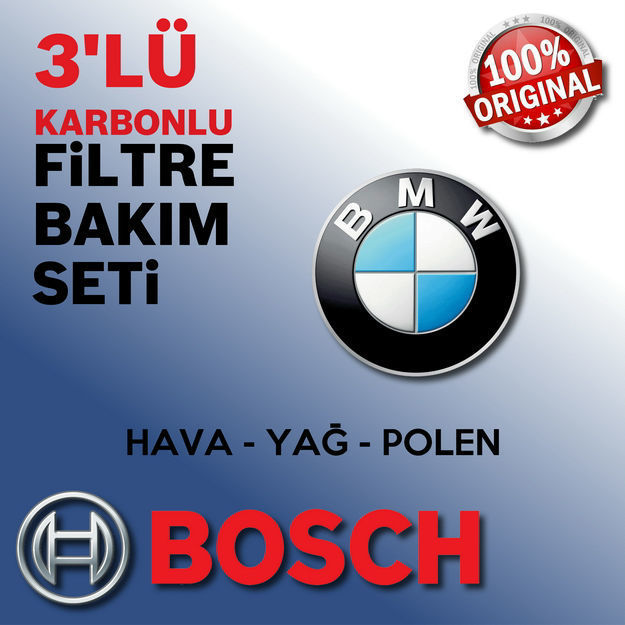 Bmw 5.20 D Bosch Filtre Bakım Seti E60 2006-2010 resmi