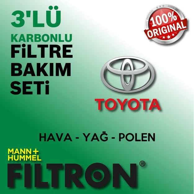 Toyota Yaris 1.33 Filtron Filtre Bakım Seti 2009-2016 resmi
