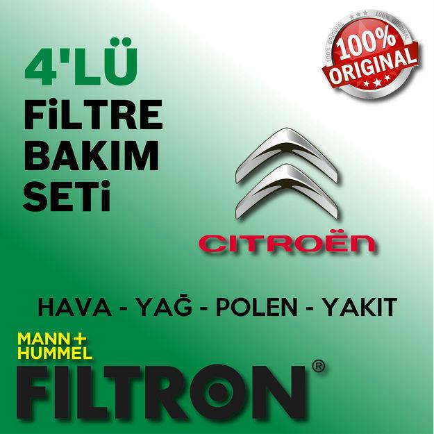 Citroen C4 1.6 E-hdi Filtron Filtre Bakım Seti 2011-2015 resmi