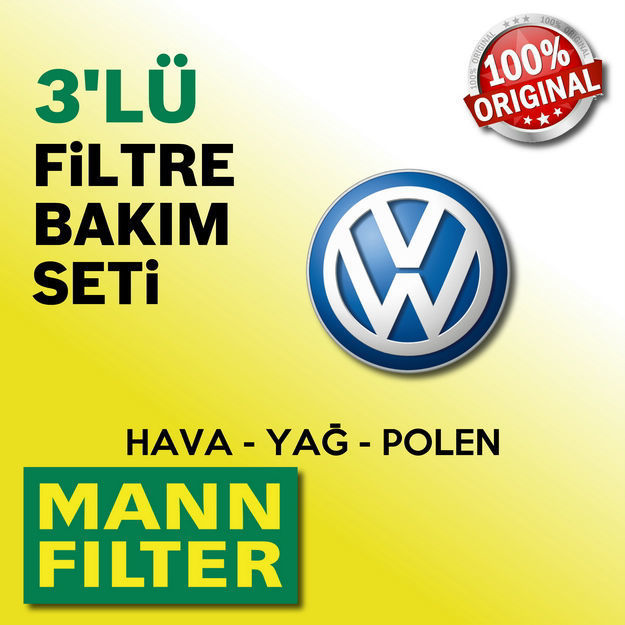 Vw Passat 1.6 Tdi Mann-filter Filtre Bakım Seti 2011-2014 resmi