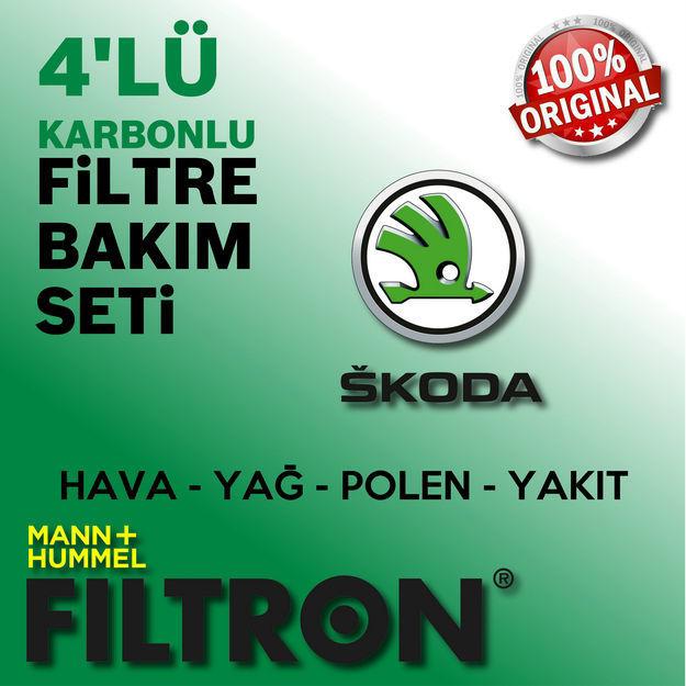 Skoda Roomster 1.4 Tdi Filtron Filtre Bakım Seti 2006-2010 resmi