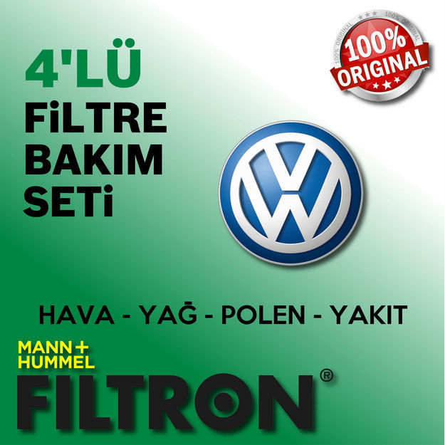 Vw Polo 1.6 Tdi Filtron Filtre Bakım Seti 2009-2014 resmi