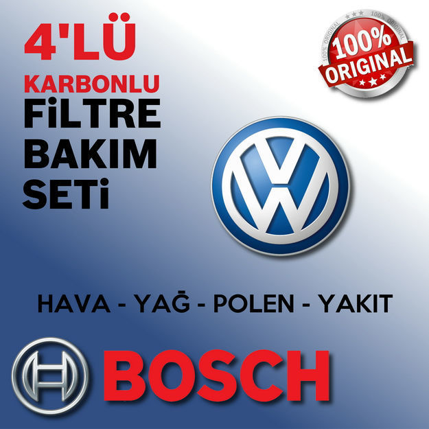 Vw Golf 5 1.4 Tsi Bosch Filtre Bakım Seti 2006-2009 Cax resmi