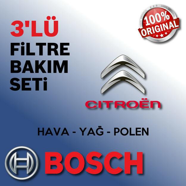 Citroen Berlingo 1.6 Hdi Bosch Filtre Bakım Seti 2006-2013 resmi
