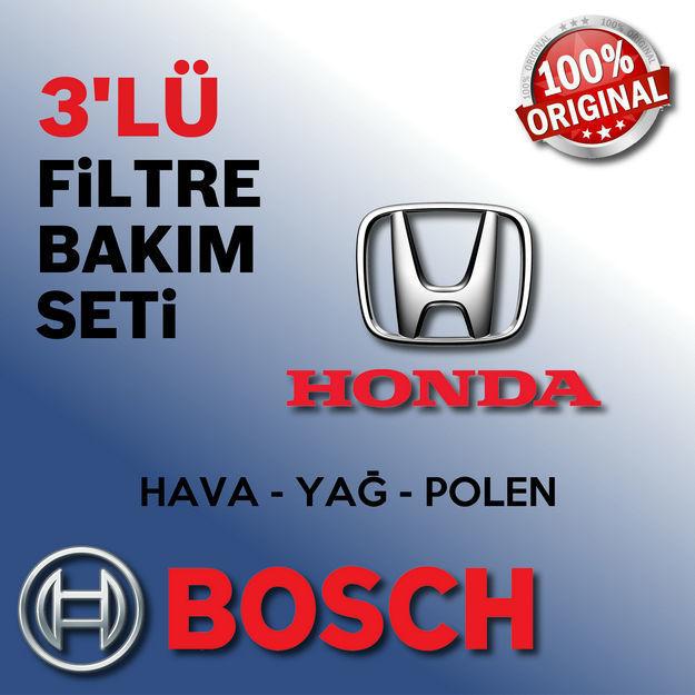 Honda Accrod 2.0 Bosch Filtre Bakım Seti 2003-2008 K20 resmi