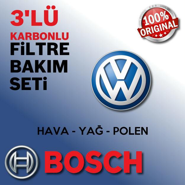 Vw Caddy 1.9 Tdi Bosch Filtre Bakım Seti 2007-2011 resmi