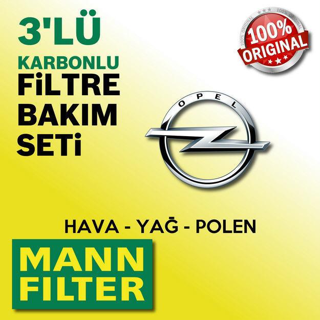 Opel Astra J 1.6 Cdti Mann-filter Filtre Bakım Seti 2014-2017 resmi