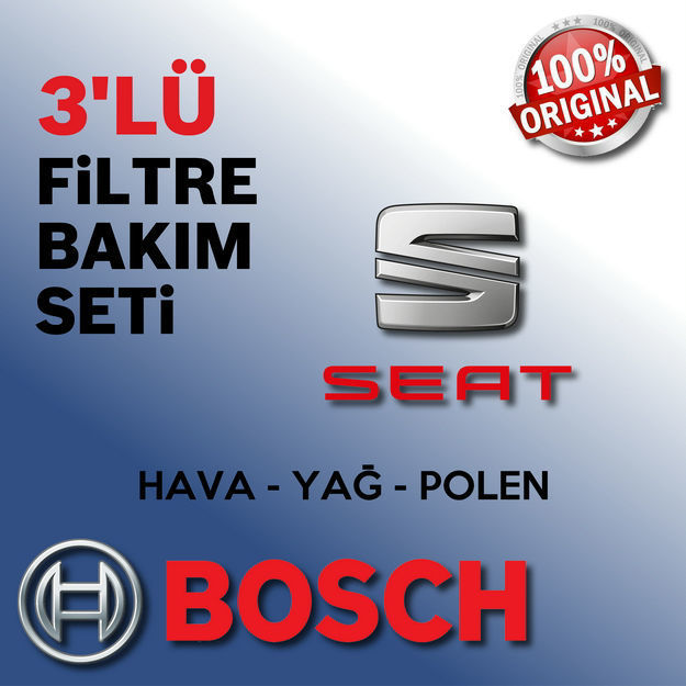 Seat İbiza 1.4 Bosch Filtre Bakım Seti 2002-2009 resmi