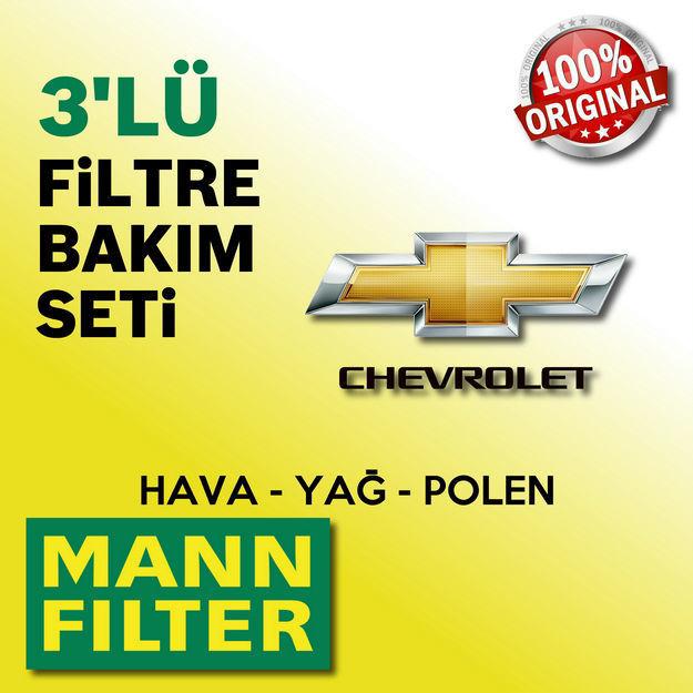 Chevrolet Kalos 1.2 Mann-filter Filtre Bakım Seti 2005-2008 resmi