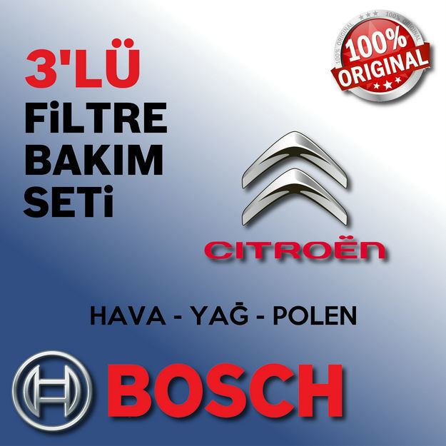 Citroen C3 Picasso 1.6 Hdi Bosch Filtre Bakım Seti 2009-2013 resmi