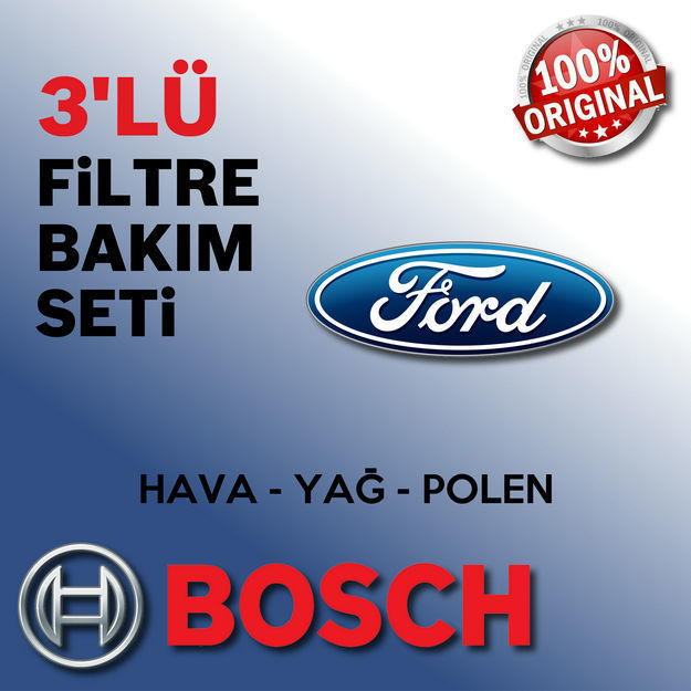 Ford C-max 1.6 Tdci Bosch Filtre Bakım Seti 2007-2010 resmi