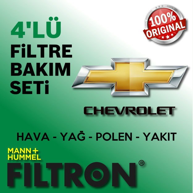 Chevrolet Captiva 2.0 Crdi Filtron Filtre Bakım Seti 2006-2011 resmi