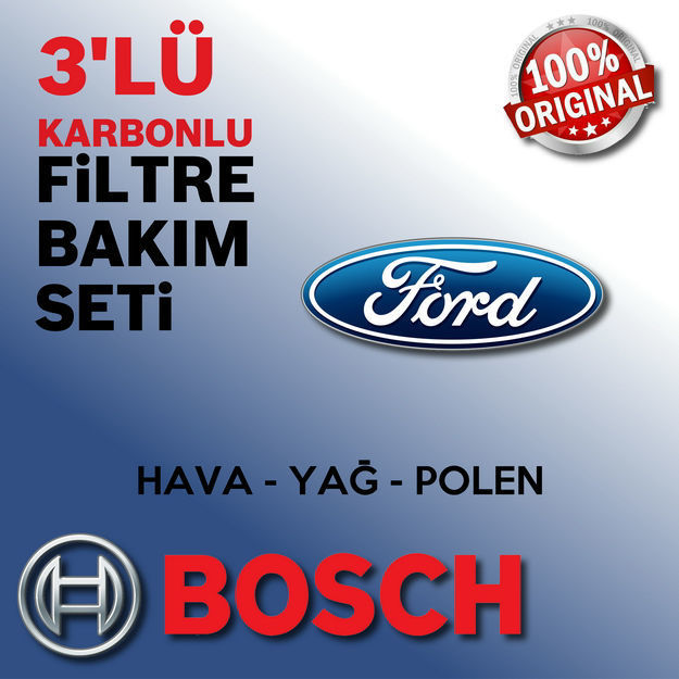 Ford Fiesta 1.6 Bosch Filtre Bakım Seti 2013-2016 resmi