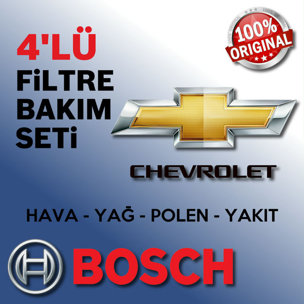 Chevrolet Lacetti 1.6 Bosch Filtre Bakım Seti 2005-2013 resmi