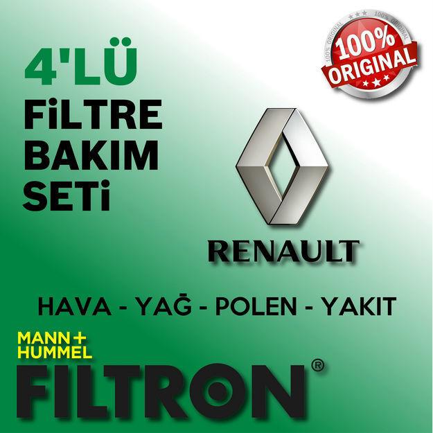 Renault Fluence 1.5 Dci Filtron Filtre Bakım Seti 2010-2016 resmi