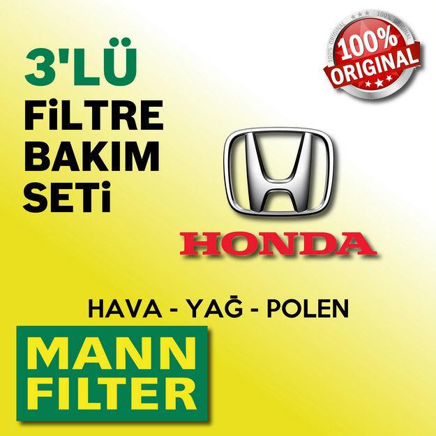 Honda Jazz 1.4 Mann-filter Filtre Bakım Seti 2009-2014 L13z resmi