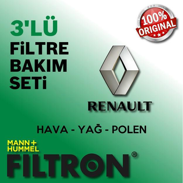 Renault Megane 2 1.6 16v Filtron Filtre Bakım Seti 2003-2009 resmi