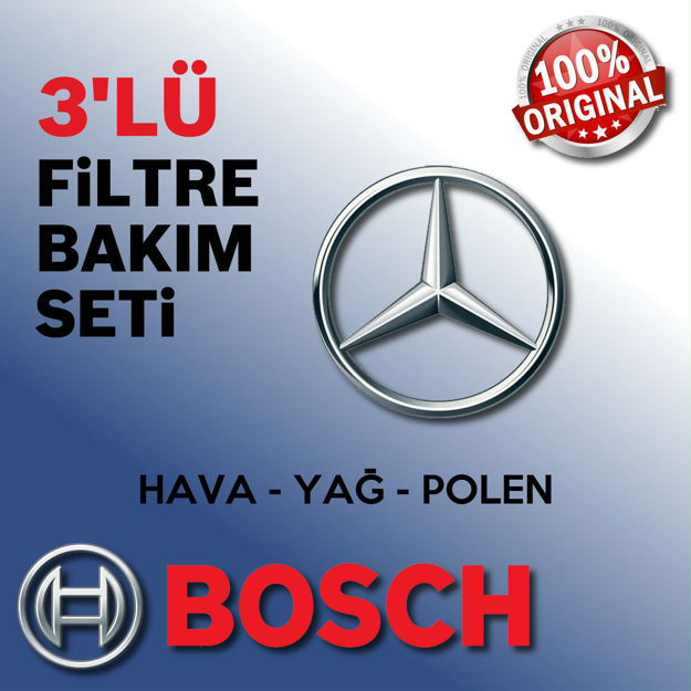 Mercedes Vito 115 Cdi Bosch Filtre Bakım Seti 2004-2010 resmi