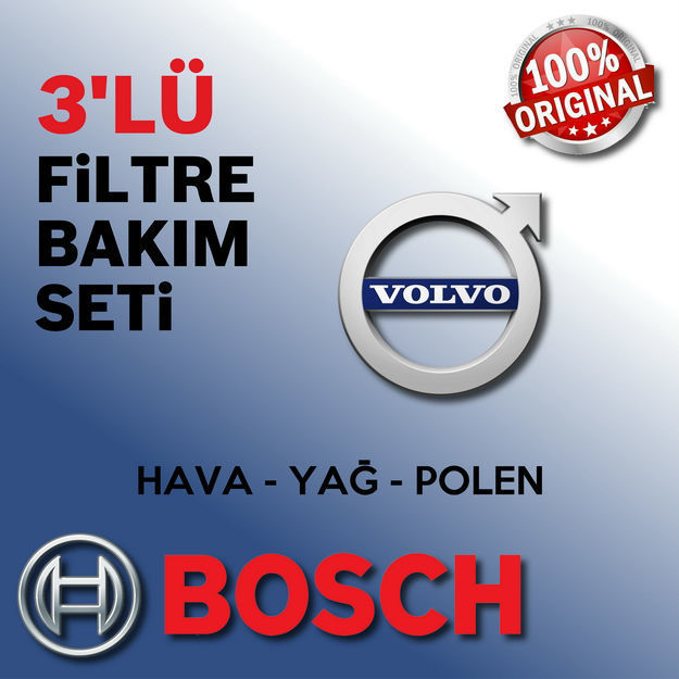 Volvo V40 1.6 D2 Dizel Bosch Filtre Bakım Seti 2013-2016 resmi