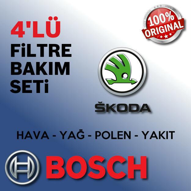 Skoda Fabia 1.4 Bosch Filtre Bakım Seti 2000-2003 Ame resmi