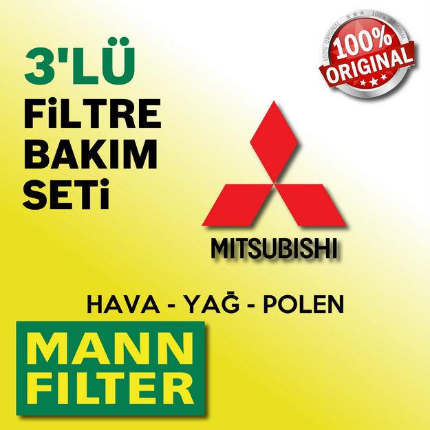 Mitsubishi Lancer 1.6 Mann-filter Filtre Bakım Seti 2010-2015 resmi
