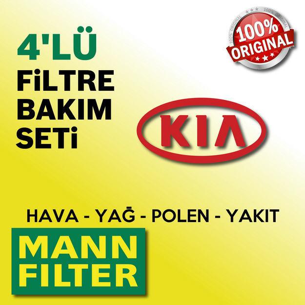 Kia Rio 1.5 Crdi Mann-filter Filtre Bakım Seti 2005-2011 resmi