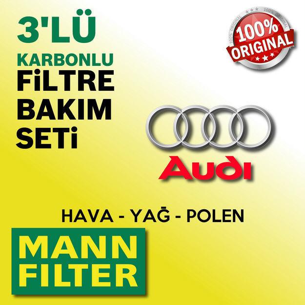 Audi A4 2.0 Tdi Mann-filter Filtre Bakım Seti B8 2009-2012 resmi