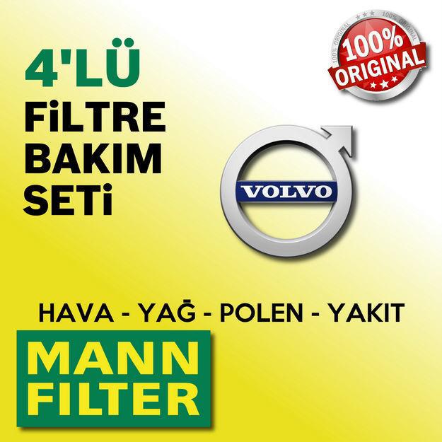 Volvo S40 1.6 Mann-filter Filtre Bakım Seti 2006-2011 resmi