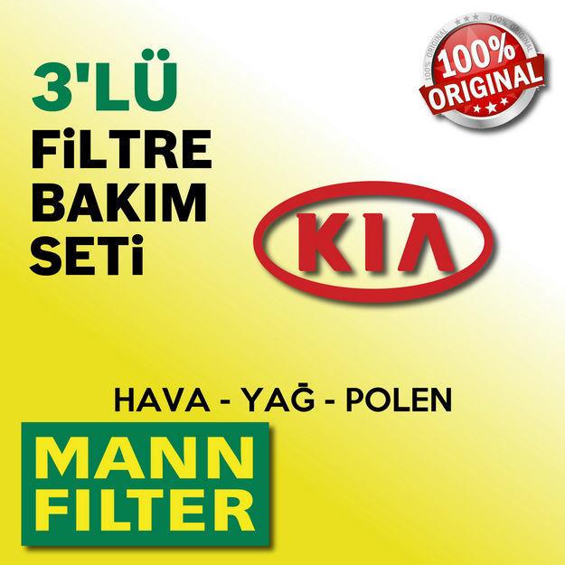 Kia Pro Ceed 1.6 Crdi Mann-filter Filtre Bakım Seti 2008-2013 resmi