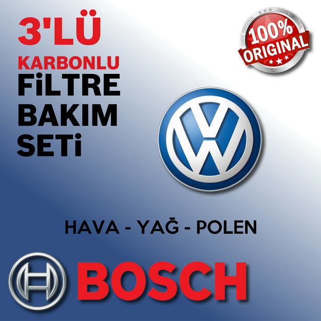 Vw Passat 1.6 Bosch Filtre Bakım Seti 2005-2010 resmi