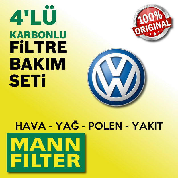 Vw Scirocco 1.4 Tsi Mann-filter Filtre Bakım Seti 2009-2014 Cax resmi