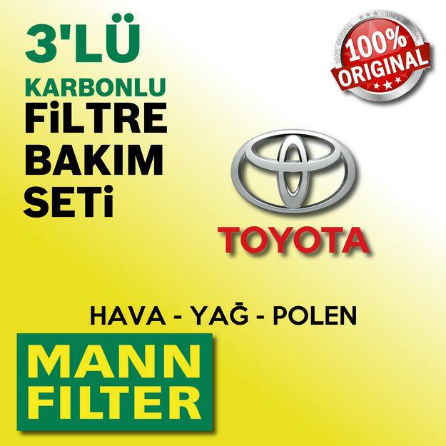 Toyota Yaris 1.33 Mann-filter Filtre Bakım Seti 2009-2016 resmi
