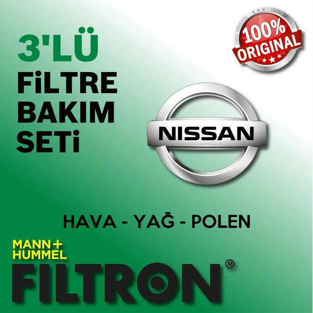Nissan Micra 1.2 Filtron Filtre Bakım Seti K13 2011-2015 resmi